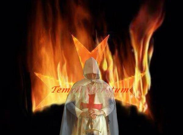 Templer mit Flamme