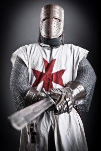 Tempelritter mit Schwert